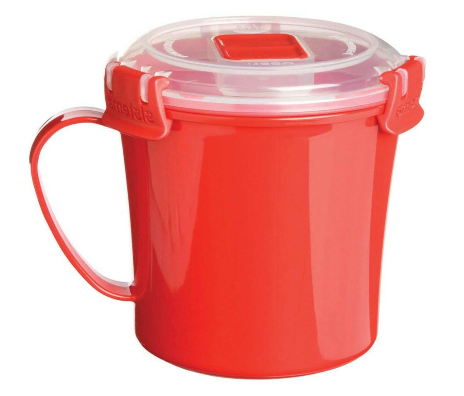 Medium Handle and Microwavable Food Container Cup