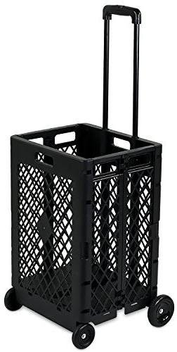 Mount-It! Mesh Rolling Utility Cart, Folding and Collapsible
