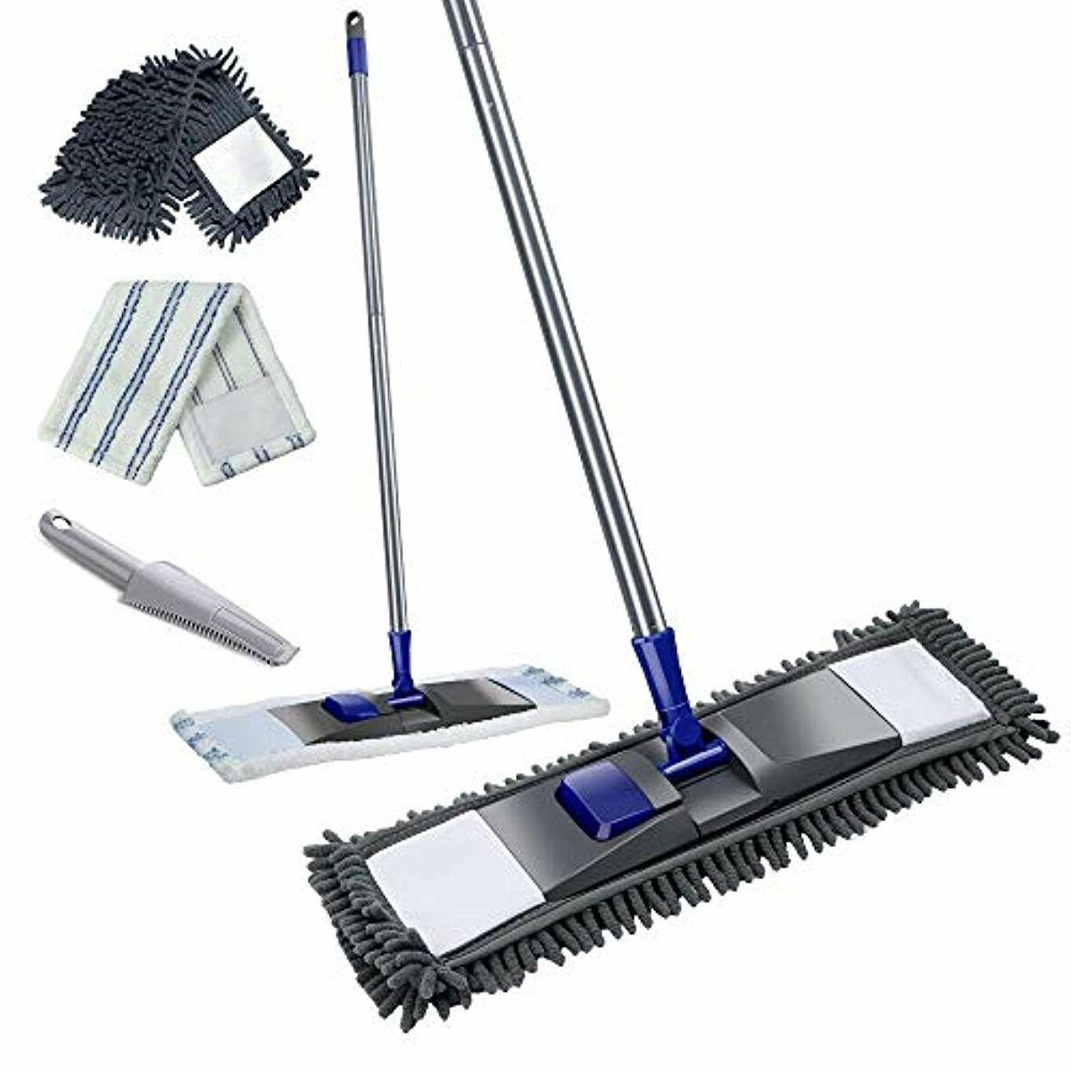 microfiber mop with stainless steel handle professional