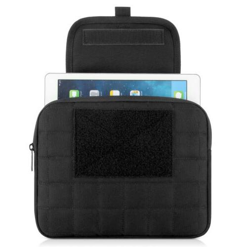Black Molle Case IPad Netbook Bag with to 10""