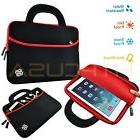 Neoprene Case Sleeve Bag With Handle Red Trim for Archos 10B