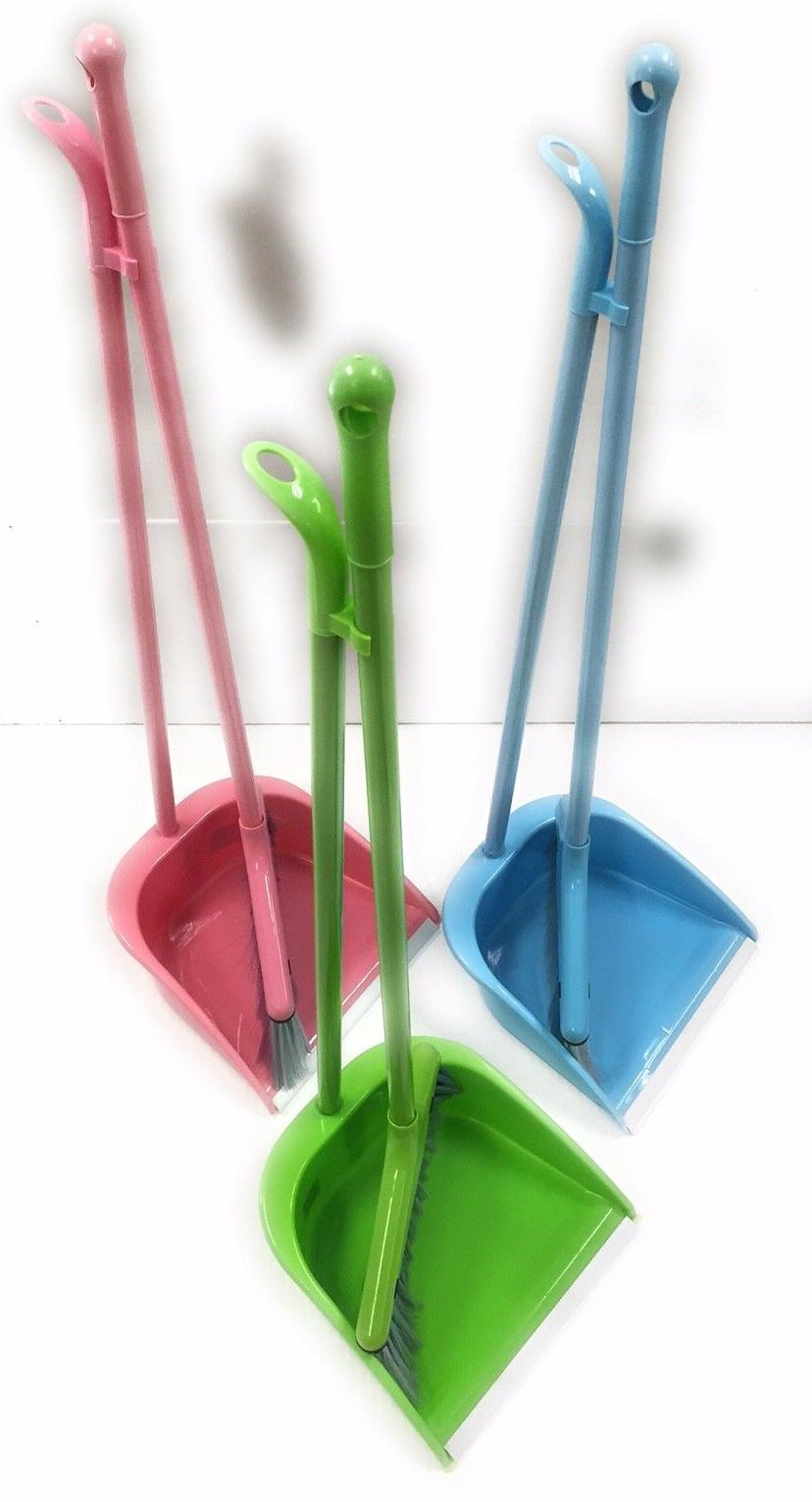 New Cleaning Dustpan Set With Broom And Handle Choose Your C