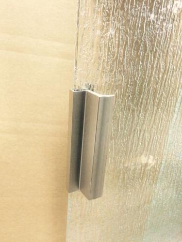 Chrome / Silver Shower Door Handle with Metal Strike