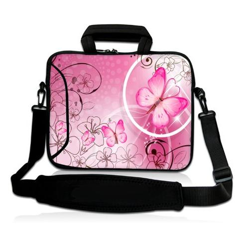 pink butterfly inch laptop netbook