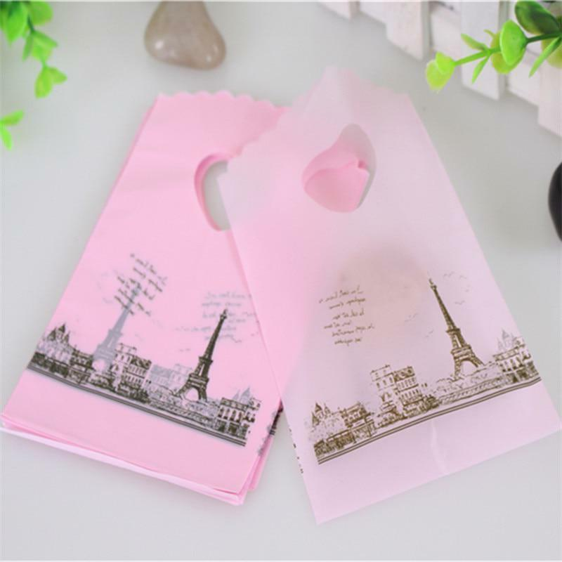 Plastic Shopping Bags with Handle 50pcs Packaging Gift Pouch