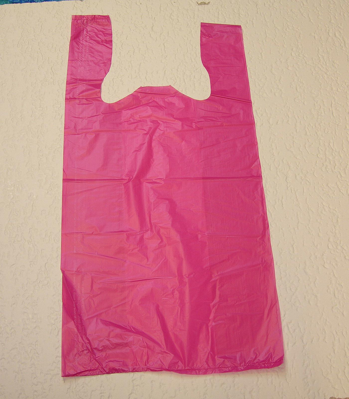 plastic t shirt bags with handles you