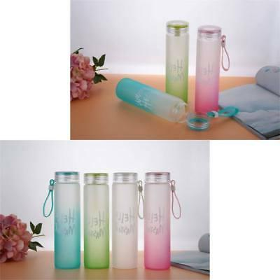 Portable Gradient Color Drinking with Silicone Handle