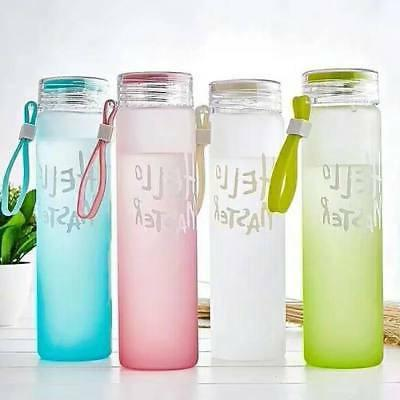 Portable Glass Water Gradient Drinking with