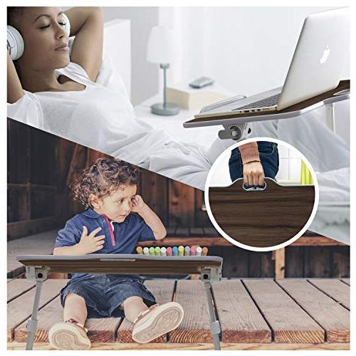 Kavalan Portable Laptop with Angle Sit Stand Bed Breakfast Notebook Holder Sofa Teak