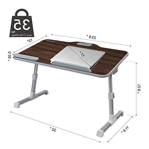 Kavalan Table with Height Stand Desk, Breakfast Notebook Stand Teak