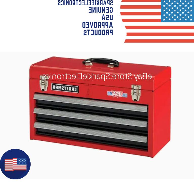 Portable Tool Storage Cabinet 3 Drawers RED
