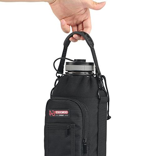 GoNovate Pouch / Sleeve Carrying Handle Bottles, w/ 2 and Shoulder