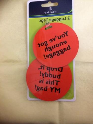 protege humorous luggage tags round