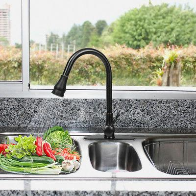 Pull-Out Kitchen Bar Faucet Brushed