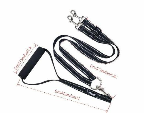 Reflective Dog No with Handle Lead for