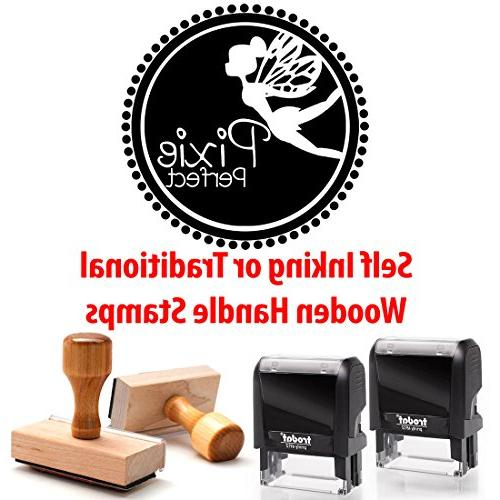 Last Name Surname Personalized Traditional Handle Rubber Stamp Custom Packaging