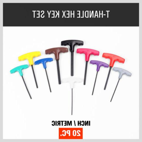 20Pc T Handle Wrench Hex Key Holders Color