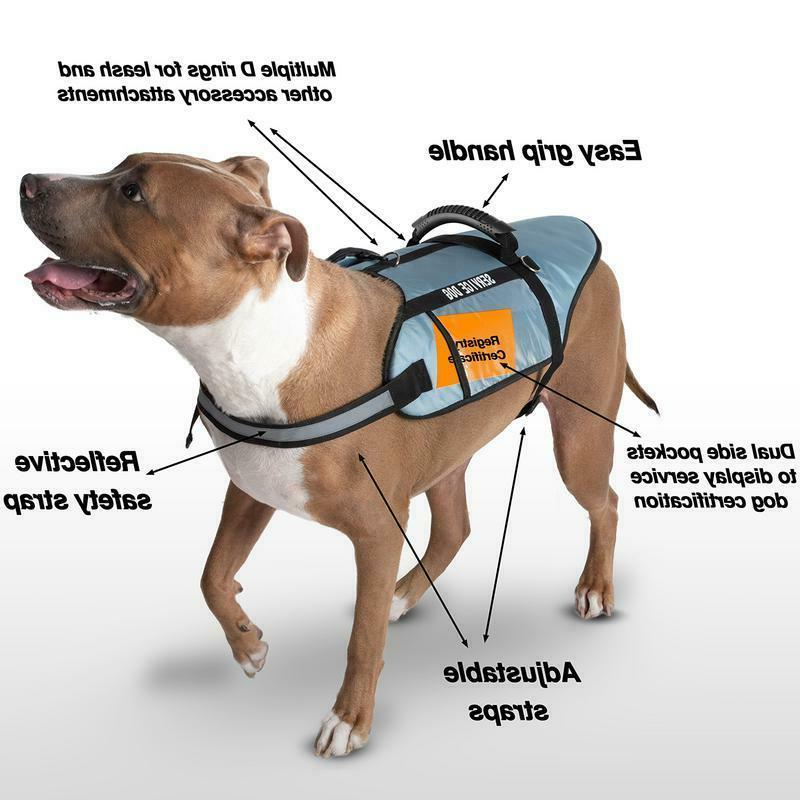 Service Dog Vest Jacket For Training Reflective Harness With