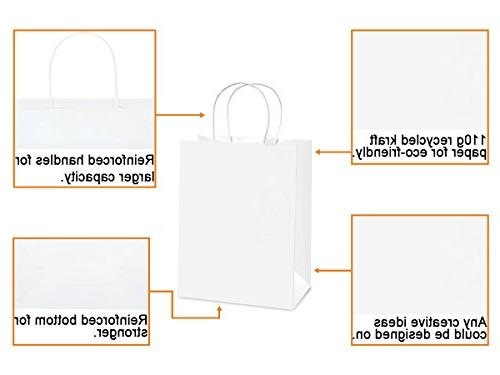 "BagDream Shopping Bag 8x4.75x10.5"", Cub, Gift Bags, Kraft Retail Bags, Bags Bulk"