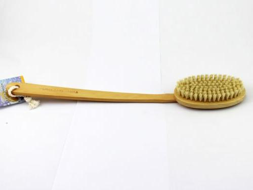 Shower with Long Natural Dry Skin Brushing, Shower