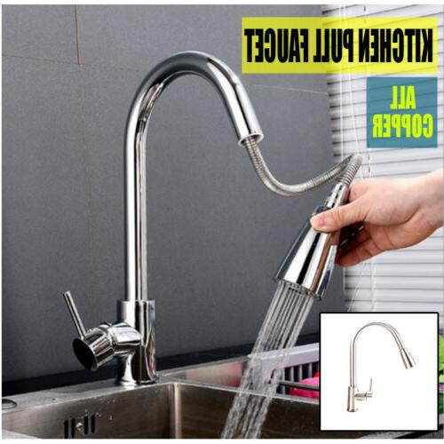 single handle kitchen faucet with pull down