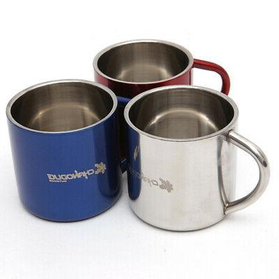 Stainless Mug With Handle Lid Insulation Lightweight Cups