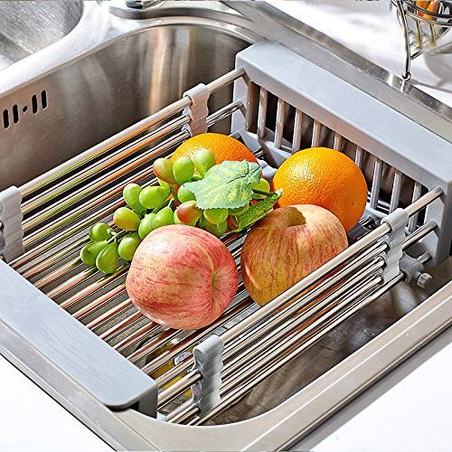 stainless steel kitchen sink rinse