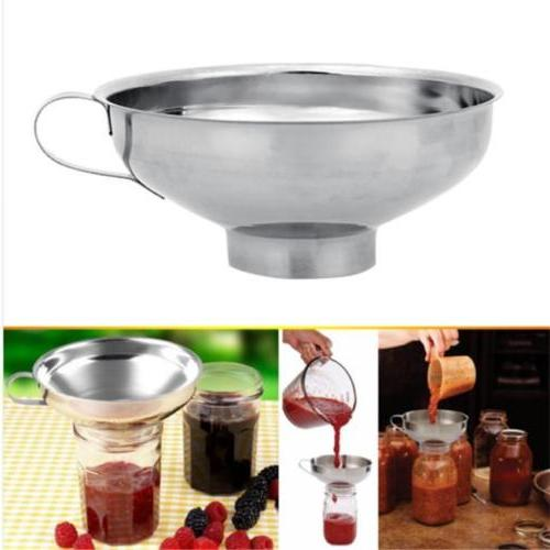 Stainless Steel Wide Mouth Canning Funnel With Handle For Ma