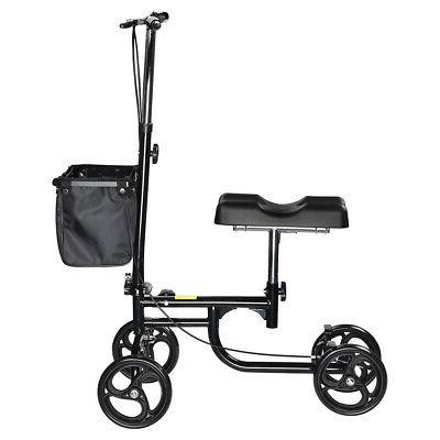 "Steerable Knee Walker Adjustable Height Handlebar Pad 7.8"" T"