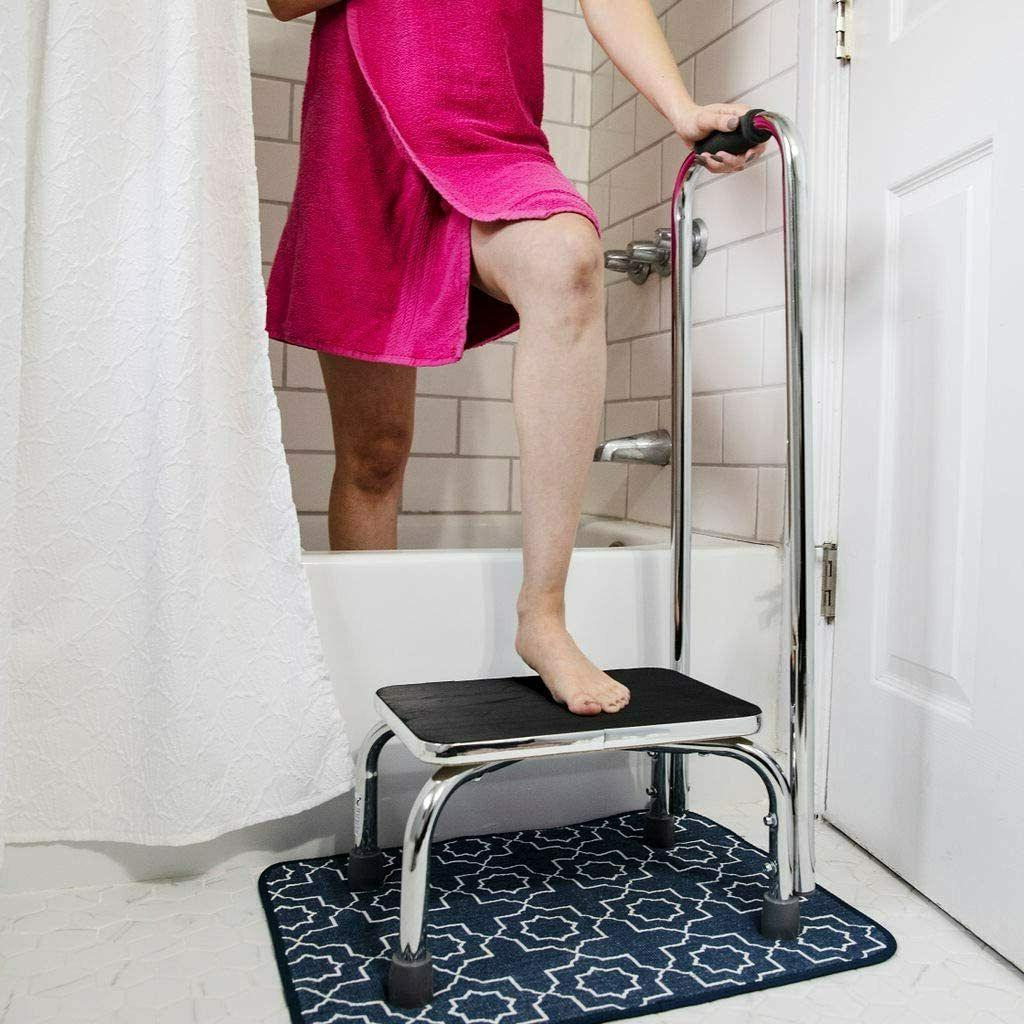 Step Stool with Handle High Bed