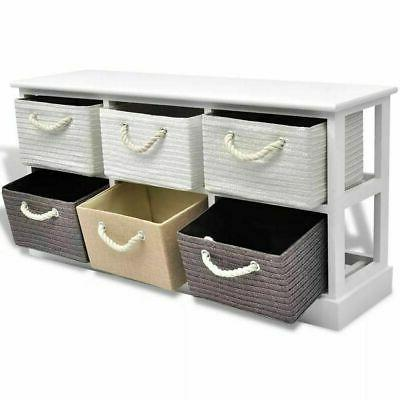 Storage Drawers Wood string handle Paulownia wood cabinet