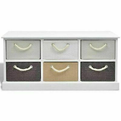 Storage Bench Wood handle Paulownia cabinet