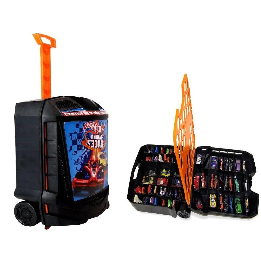 storage case with retractable handle 100 cars