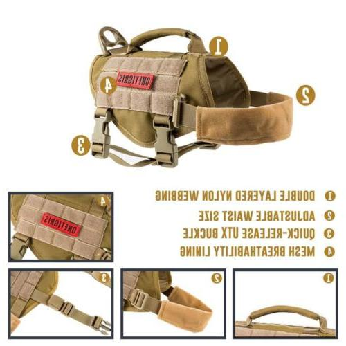 OneTigris Dog Harness Molle Nylon Handle for Small XS