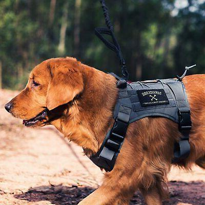 Tactical with Handle/Leash Vest Working Dog