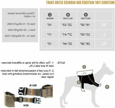 Tactical Harness Handle/Leash Military Vest Working Dog
