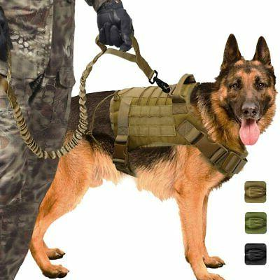 tactical dog harness with handle leash large