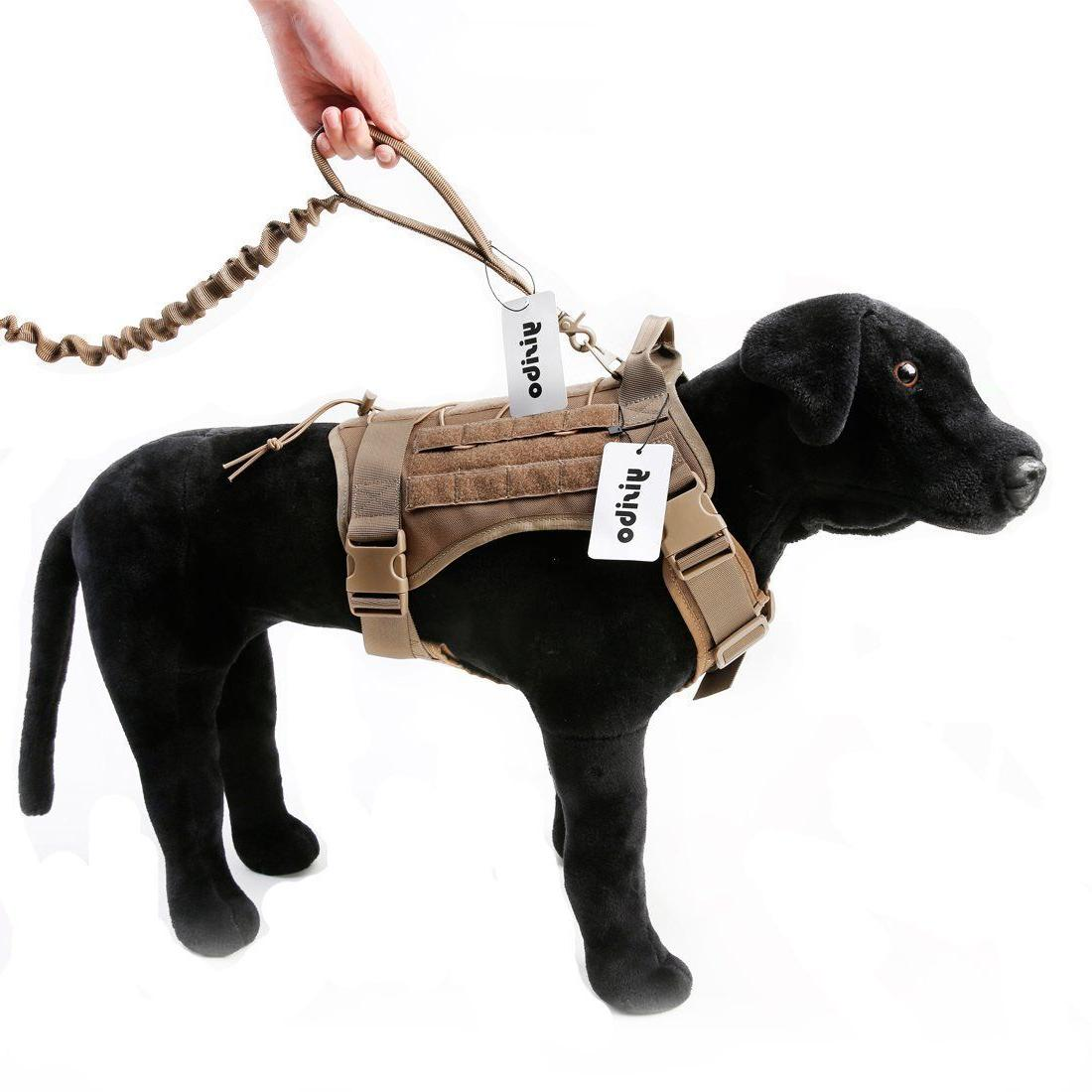 Tactical Molle Chest Plate Dog Adjustable Puppy vest with Color