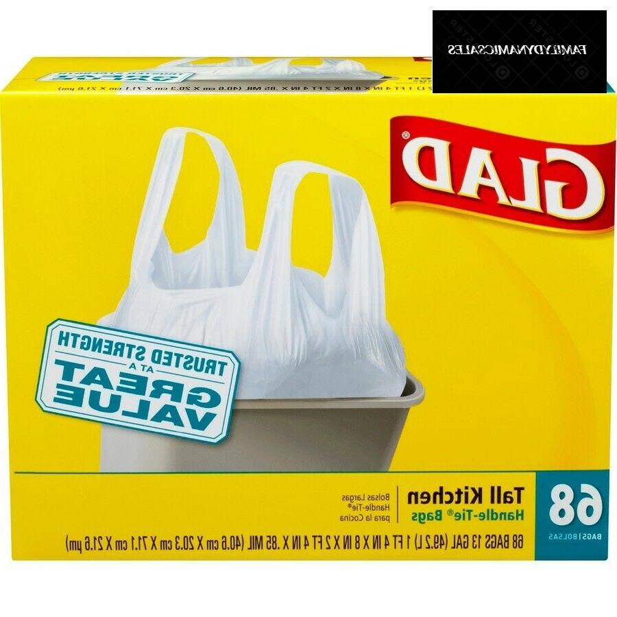 tall kitchen handle tie trash bags 13