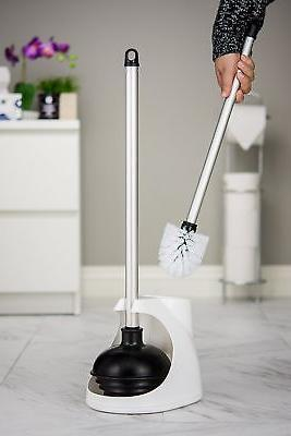 Toilet Plunger and Holder Aluminum Handle Duty
