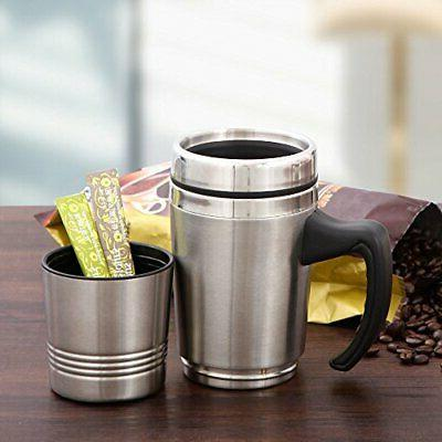 Travel Mug Double Coffee Cup With Oz