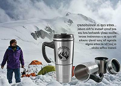 Travel Coffee Cup Steel With Insulated Oz