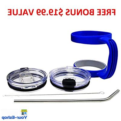 Vacuum Insulated Tumbler Handle Straw Travel Mug