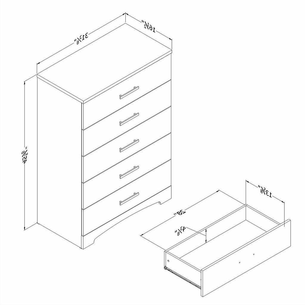 White 5-Drawer with Finish