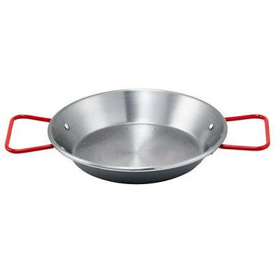 winco polished carbon steel paella pan