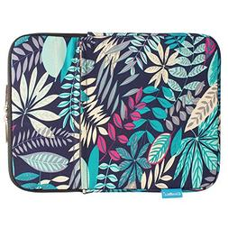 CoolBell 11.6 Inch Laptop Sleeve Case Cover Colorful Leaves