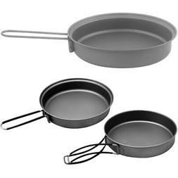 TOAKS Lightweight Titanium Frying Pan with Foldable Handle -
