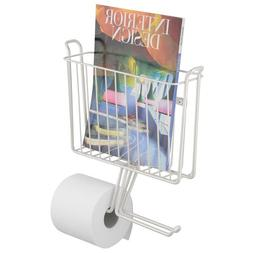 mDesign Magazine and Toilet Paper Roll Holder for Bathroom S