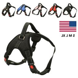 Medium Large Dog Harness Strap No Pull Adjustable Reflective