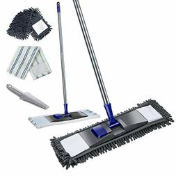 Microfiber Mop With Stainless Steel Handle, Professional Fla